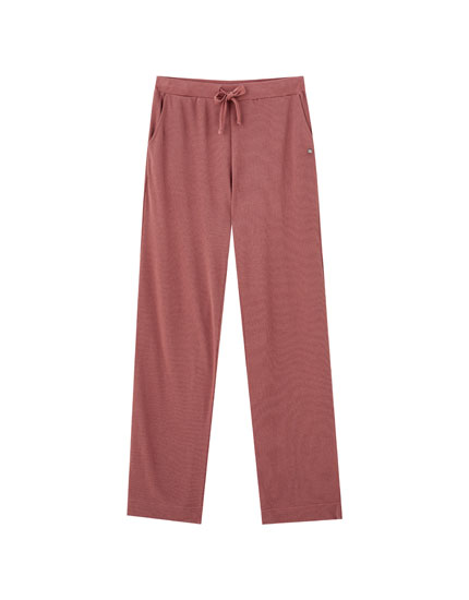 Pink soft-touch pyjama bottoms