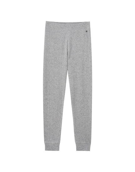 Grey soft-touch pyjama bottoms