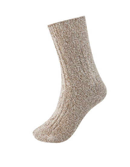 Cable-knit sports socks