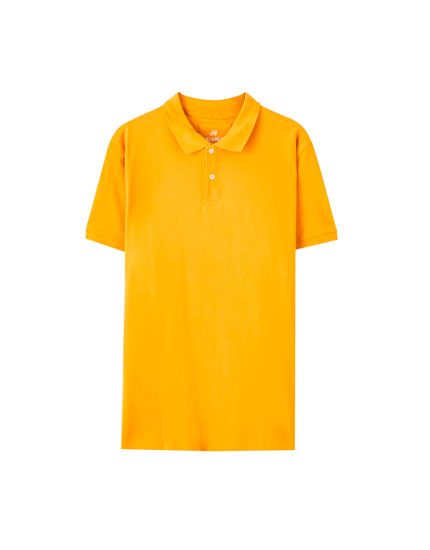 Basic coloured polo shirt