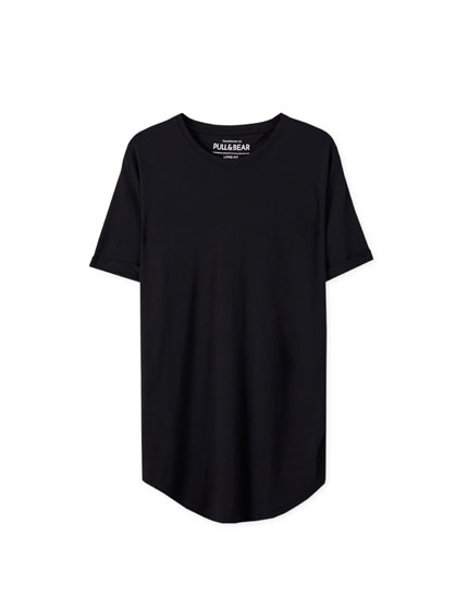Playera long fit básica