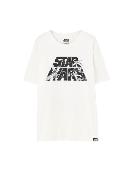 T-shirt STAR WARS logo - pull\u0026bear