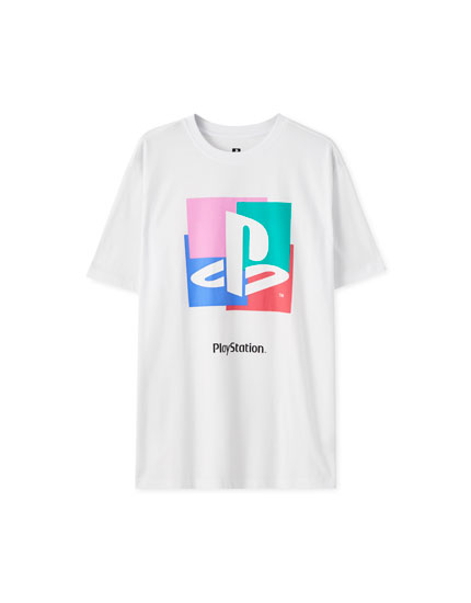 Playera PlayStation blanca