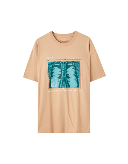 T-shirt with X-ray illustration