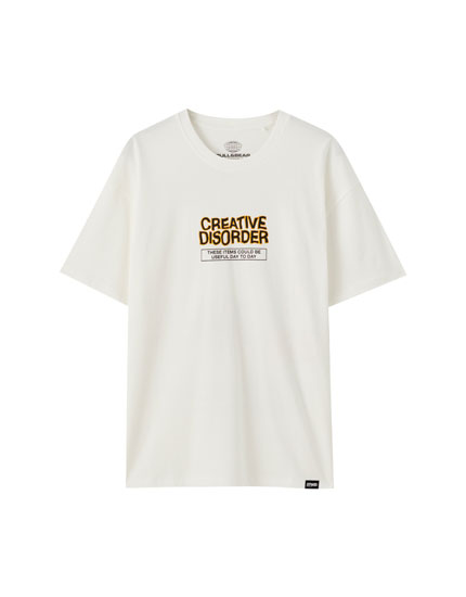 Playera blanca Creative Disorder