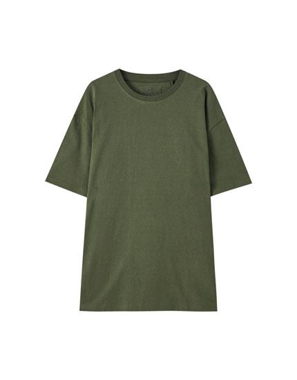 T-shirt básica premium de manga curta