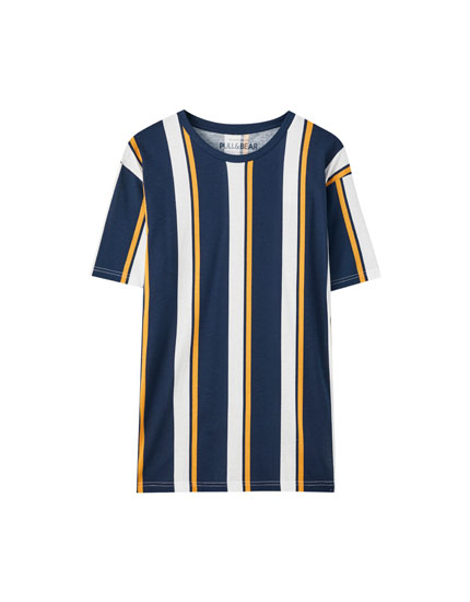 Basic short sleeve striped T-shirt