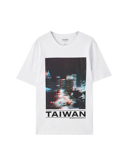 White 'Taiwan' T-shirt