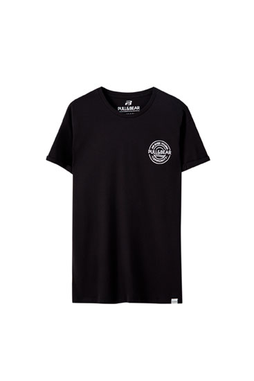 Muscle fit T-shirt with logo