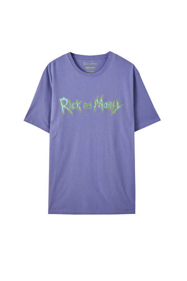 Lilac Rick and Morty illustration T-shirt