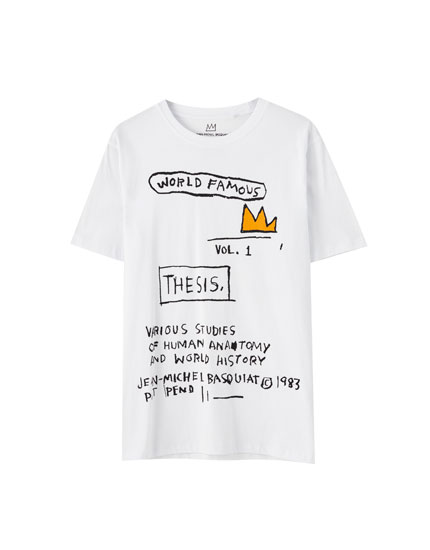 Basquiat 'World famous' print T-shirt
