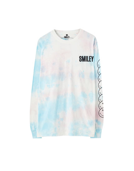 Playera Smiley tie dye