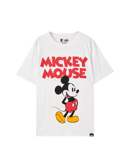 Playera blanca Mickey Mouse