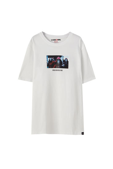 T-shirt La Casa de Papel x Pull&Bear Bella com personagens