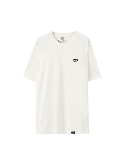 Basic T-shirt with contrast logo