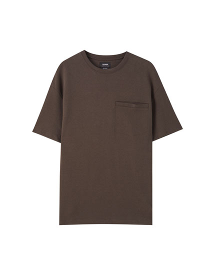 Basic thick knit T-shirt