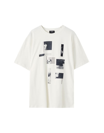 White T-shirt with structure illustration