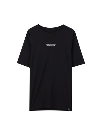 Black contrast T-shirt