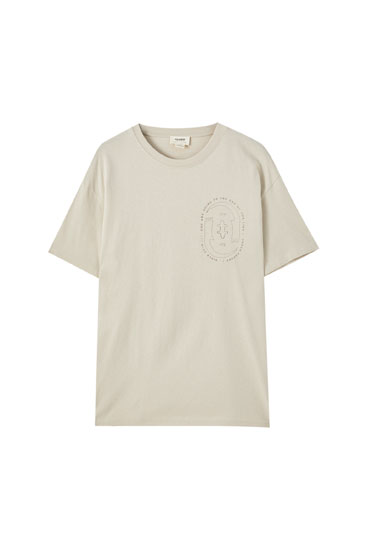 Beige T-shirt with shape illustration
