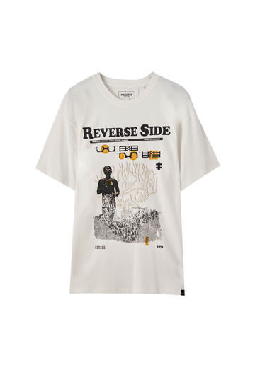 White Reverse Side T-shirt
