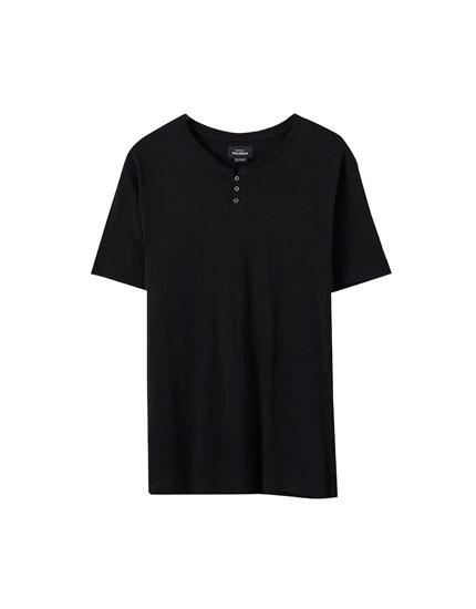 Camiseta cuello panadero manga corta