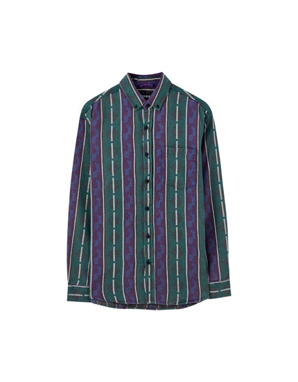 Long sleeve jacquard shirt