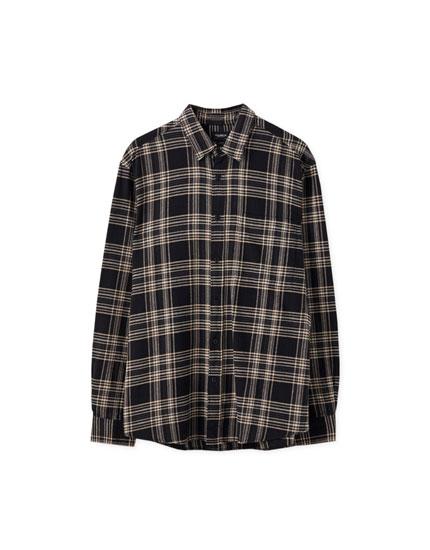 Camisa algodón estampado cuadros