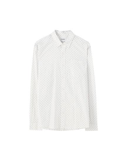 Camisa básica estampada popelín