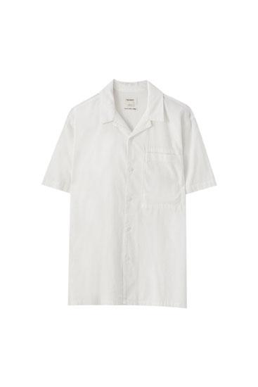 Camisa mezcla lino