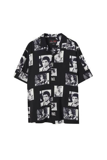 Μαύρο πουκάμισο Scarface