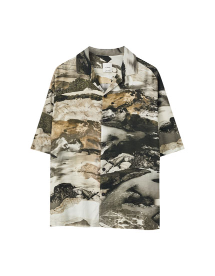 Mountain print shirt