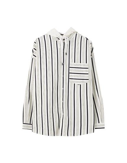 Camisa oversize capucha