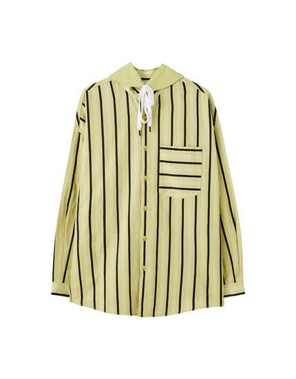 Рубашка оверсайз с капюшоном