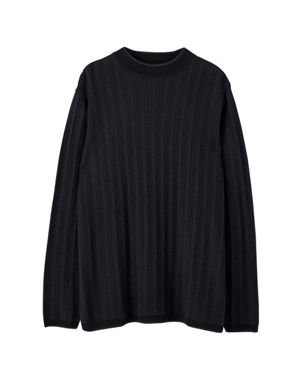 Basic textured knit sweater
