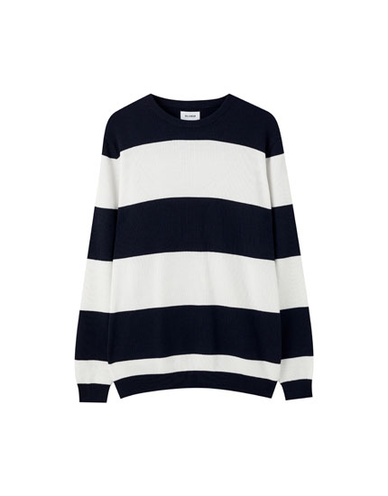 Basic wide stripe sweater