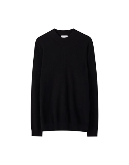 Plain high neck sweater