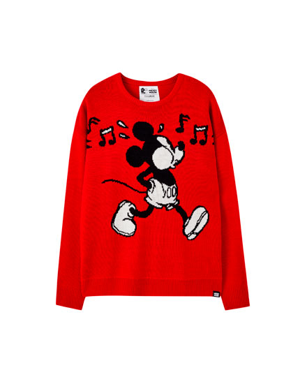 Red Mickey Mouse sweater