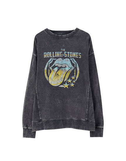Faded Rolling Stones sweatshirt