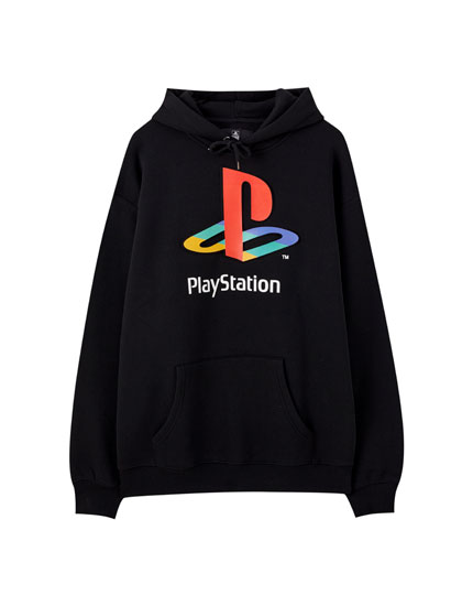 Black hoodie with Play Station logo