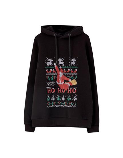 'Ho ho ho' Santa hoodie
