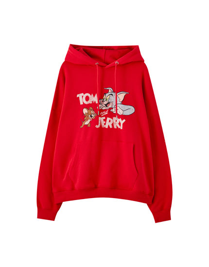 Red Tom & Jerry hoodie