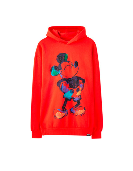 Sweatshirt vermelha do Mickey Mouse