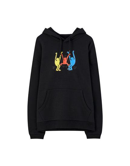 Black Keith Haring hoodie