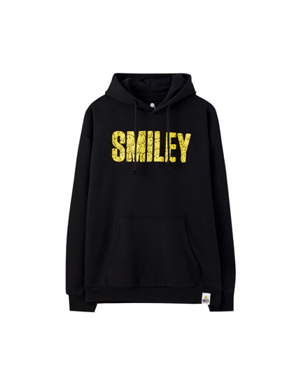 Smiley hoodie with yellow logo
