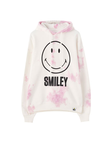 Sweatshirt do Smiley com tie-dye