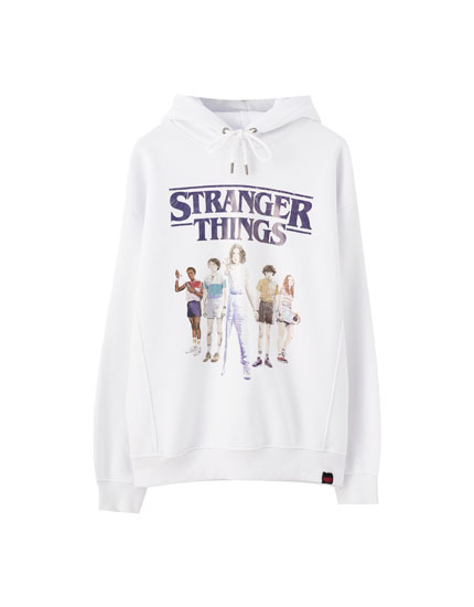 White Stranger Things 3 hoodie