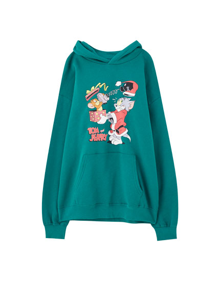 Sudadera verde Tom & Jerry
