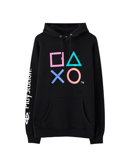 PlayStation buttons hoodie