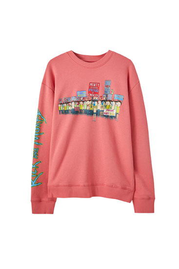 Pink Rick & Morty sweatshirt