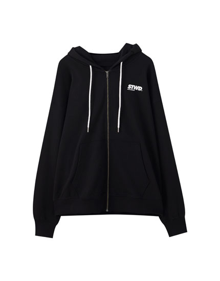 Sweatshirt mit kontrastfarbenem Motiv